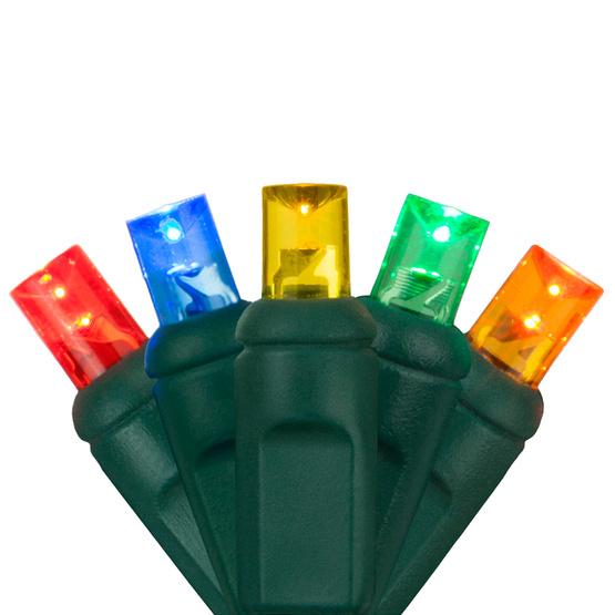 Mini Christmas Lights.50 Led Multi Mini Christmas Lights