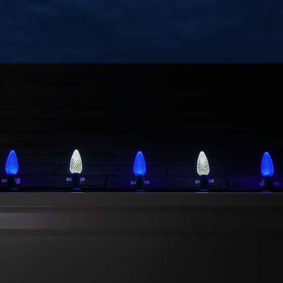5 C9 Cool White Blue Led Commercial Christmas Lights